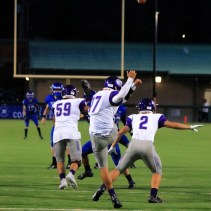 Kennedy McGill gets the punt away (Kevin Rodriguez & Declan Adams)