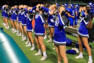 Bothell Cheer on the sidelines