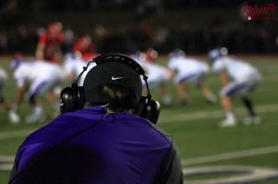 Coach Parnell checks his offense