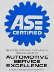ASE Certification for auto professionals. Peace of mind for customers.