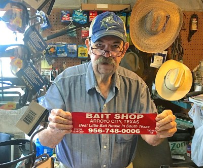 Jerry Cochran, owner of the Bait Shop in Arroyo City, says that a customer just needs to ask for something once and if the Bait Shop doesn't have it, they will get it. (VBR)