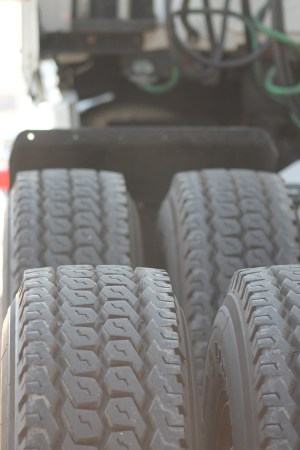 A semi's tires have to be ready for the long haul, hitting the road for 3,000-4,000 miles per trip. (VBR)