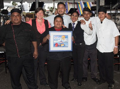 World's Championship Shrimp Cook-Off 2016 first place winners in the professional cook-off category Laim's Steakhouse and Oyster Bar (photo Port Isabel Chamber of Commerce)