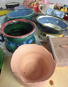 Making pottery is one of many artistic skills taught at Hands In Art. (VBR)