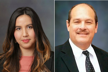 Lorena Hernandez, finance director, and Jose Herrera, special projects director