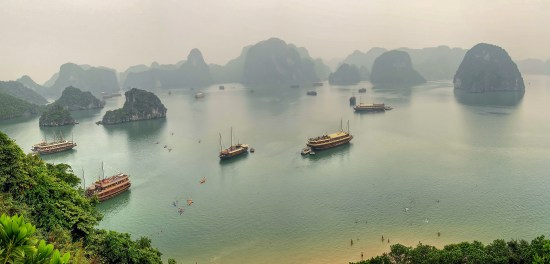 Halong Bay in Vietnam is among the hundreds of far-flung destinations Ed Dramberger has visited as a travel industry consultant. (Courtesy)