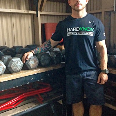 Hardknox owner Rodney McClanahan transformed his father's auto garage into a no-frills fitness gym. (VBR)