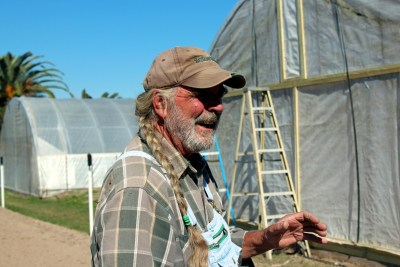 Farmer Bud Cooke talks about the challenges of operating an organic farm with his wife Susanne. (VBR)