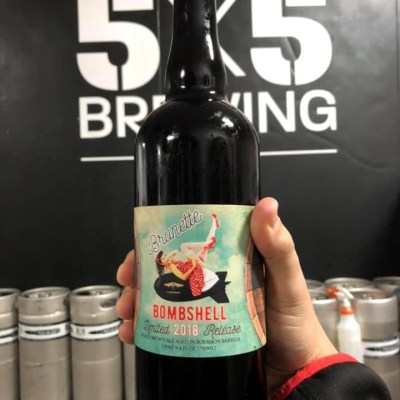 5x5 Brewing Co.'s Brunette Bombshell Limited 2018 Release is the brewery's first ever barrel-aged product. (Courtesy)
