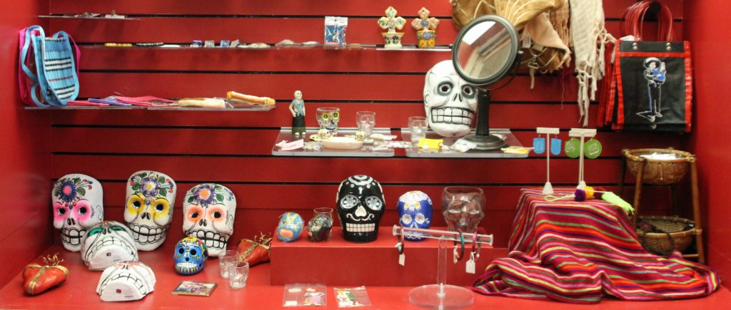 A display of some of the merchandise available in the gift shop at the Brownsville Historical Complex on East Washington Street. (VBR)