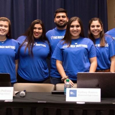 The RGV Matters founding members and youth volunteers Alyssa Yarritu, Mia Aleman, Briana Pedraza, Dagoberto Gutierrez, Sydney Ramon, Yasmeen Medrano, Jonah Riojas and Mariella Vela. (Courtesy Ray Pedraza)