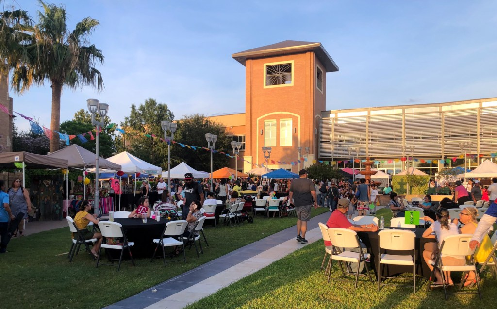 A large crowd comes together to celebrate FridaFest, now in its sixth year.