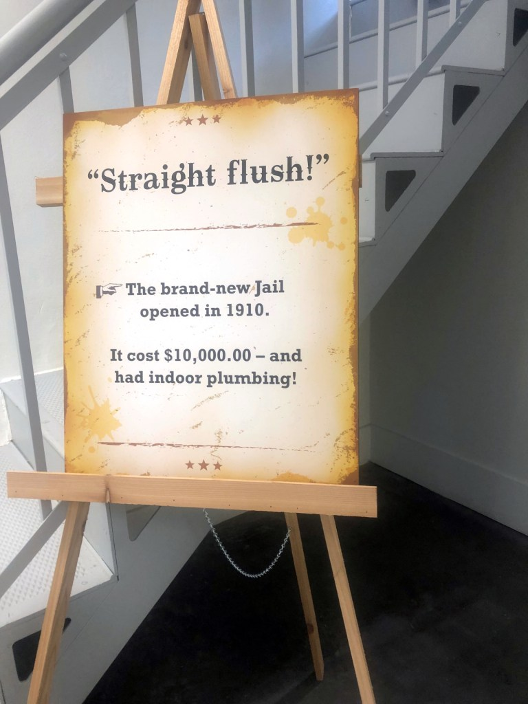 Fun fact of the 1910 Jail about cost and having plumbing.