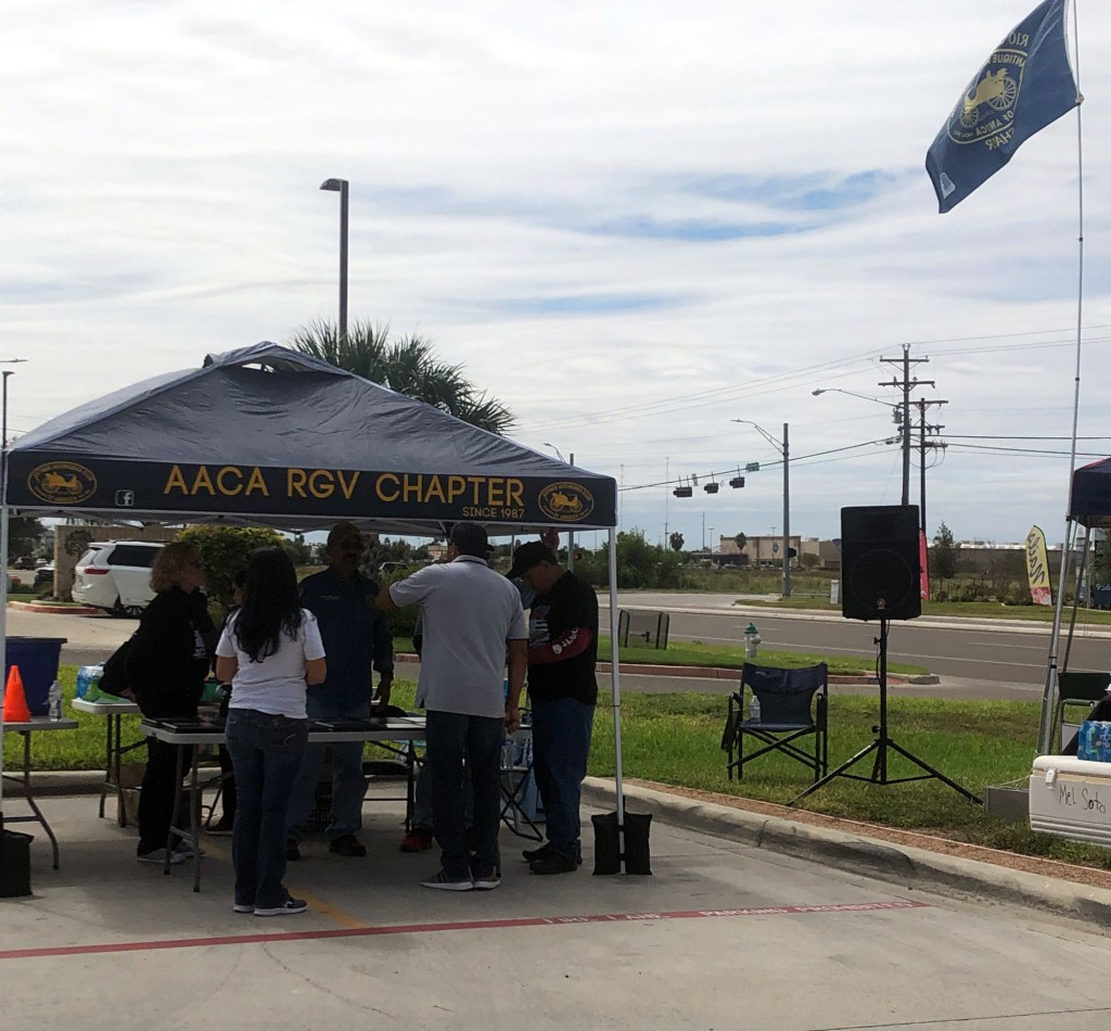 Visitors drop donations at the AACA RGV Old Car Fest.