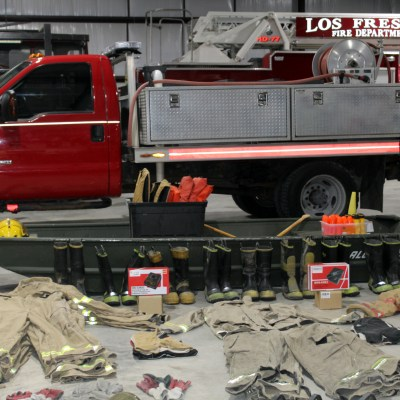 Gene Daniels talks about the equipment Los Fresnos FD/EMS donated to the Matamoros FD.