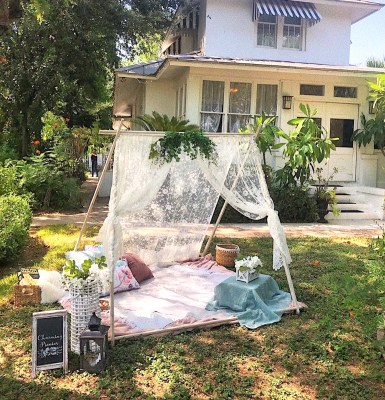 Charming Picnics showcases a setup at an event at The Bryan House in Mission. (Courtesy)