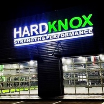 The Hardknox facility at night.