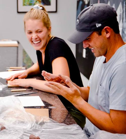 The art business incubator at SPI offers community workshops where local residents can learn more about sculpturing.