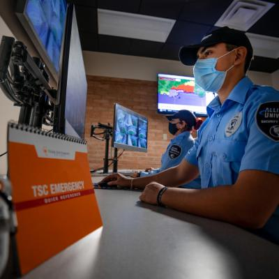 TSC's new Safety and Security Command Center is increasing security presence and partnerships between the college and law enforcement agencies. (photo STC)