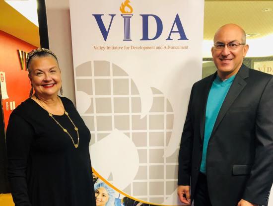 VIDA Executive Director Priscilla Alvarez and Director of Workforce Development Isidro Ramos
