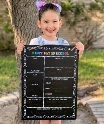 "When Priscilla Cavazos' youngest daughter Faith filled out her first-day-of-kindergarten chalkboard in the fall of 2020, she responded to ""When I grow up, I want to be ..."" with ""A Farmers Agent."""