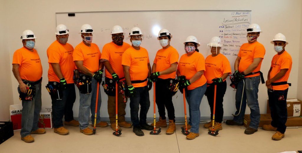 The first group of students in the electrician journeyman training program are making their way through the new VIDA program. (Courtesy)