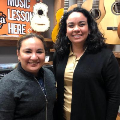 Armonia Music Academy & Store owners and instructors Karina Vela and Ari Gonzalez.