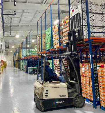 An average of 65 trucks leave the Robinson Fresh facility daily en route to major U.S. grocers. (Courtesy)
