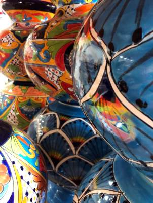 El Disco is stocked with colorful products from throughout Mexico.