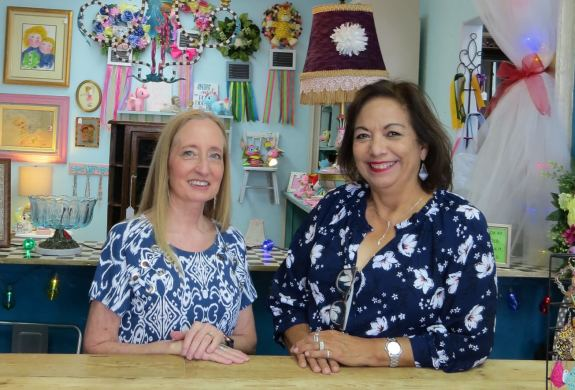 Former McAllen ISD teachers Debbie Garcia and Alicia Garza are now living their retirement dream as owners of Treasures From The Attic & Co.
