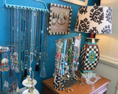 Hand-painted furniture, lamps and accessories, as well as vintage jewelry, are just some of the treasures customers will discover.