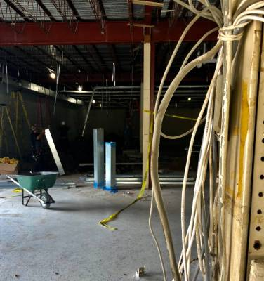 Work is revamping a former women's clothing store in downtown Brownsville into an entrepreneurial resource center. (VBR)