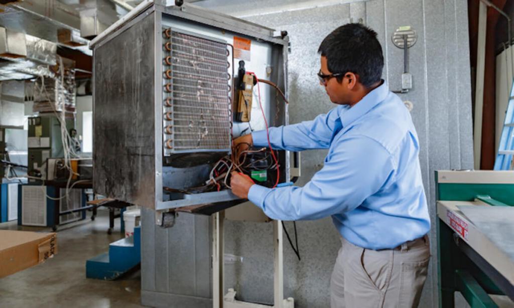 TSTC offers multiple HVAC education and training pathways. (photo TSTC)