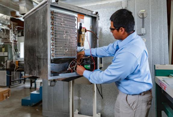TSTC offers an Associate of Applied Science degree in HVAC Technology, an HVAC Technician certificate and a Basic HVAC occupational skills award. (photo TSTC)