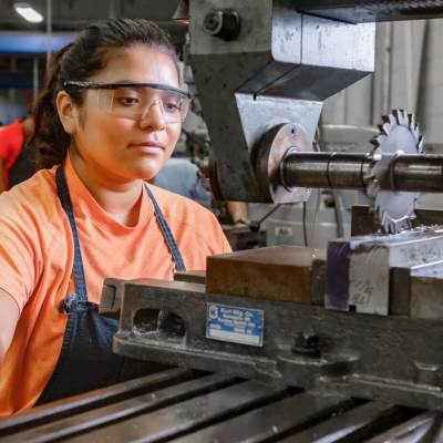 Texas State Technical College offers an Associate of Applied Science degree in Precision Machining Technology. It also offers a certificate of completion in Machining. (photo TSTC)