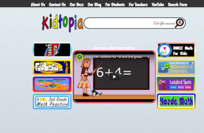 Dr. Michael Bell uses Kidtopia's color and movement to grab the students' attention.