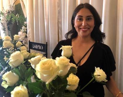 Katheryn Ramirez of LAB Pro Studios was one of 12 vendors at the recent bridal show in Mercedes.