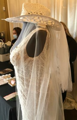 David's Bridal of McAllen meets with prospective brides at the Bridal Show 2021 in Mercedes.