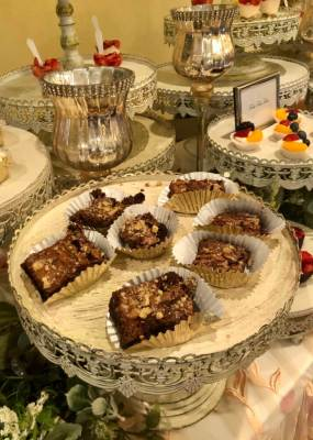 Tasty desserts out for sampling by Queen's Kitchen at the Mercedes bridal show.