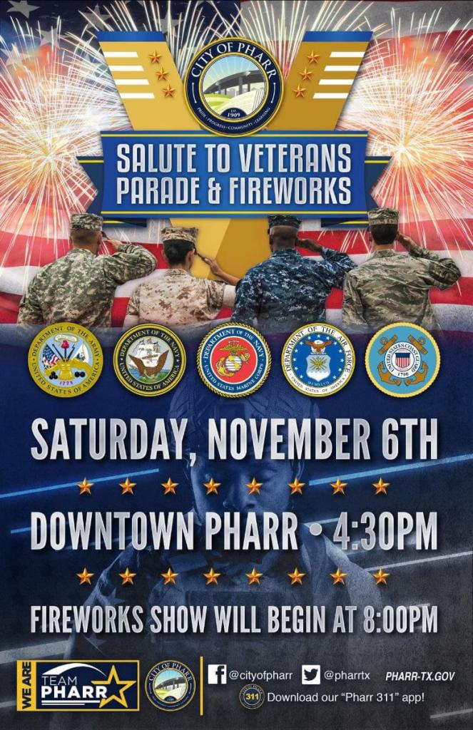 Pharr Salute to Veterans Parade and Fireworks