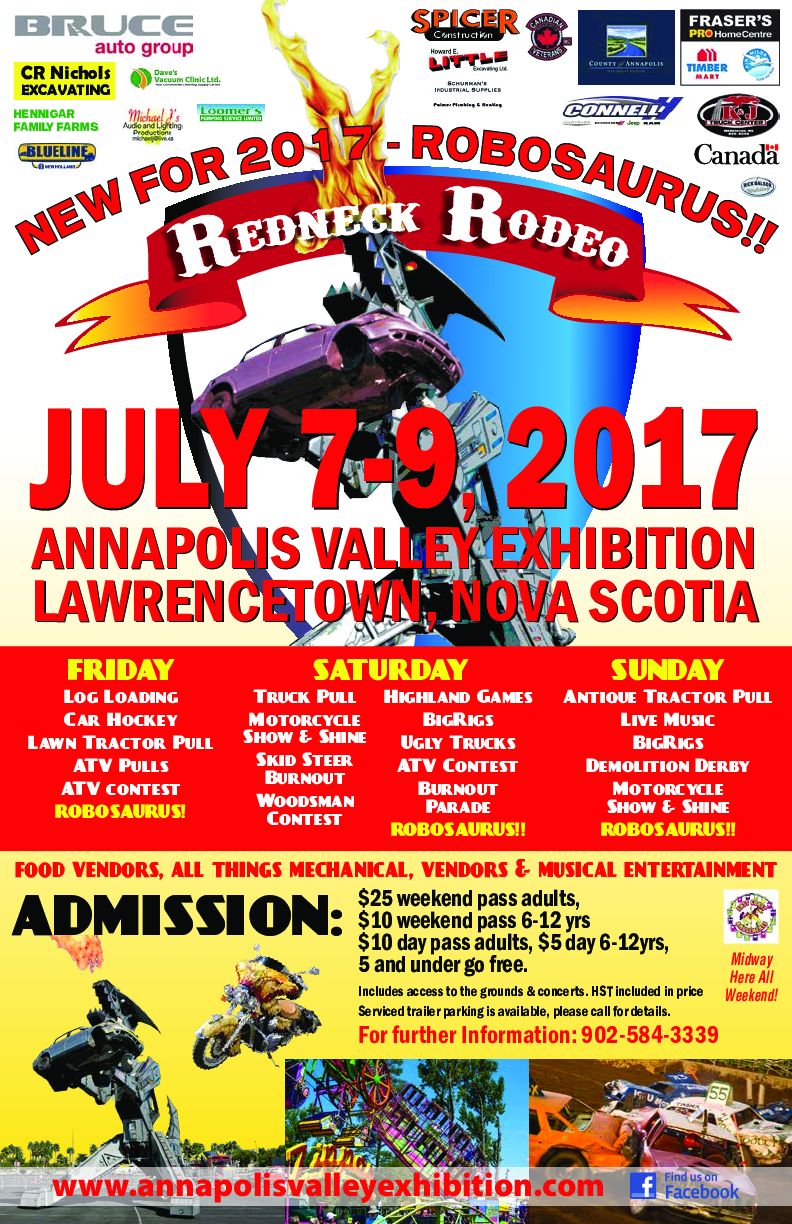 Redneck Rodeo At Annapolis Valley Exhibition Lawrencetown July 9 2017 11am