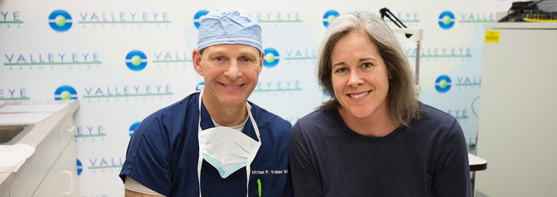 Dr. Vrabec with happy patient