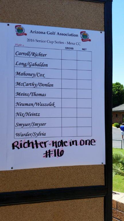 Steve Richter Hole in one at AGA Meet. Congrats to Steve.