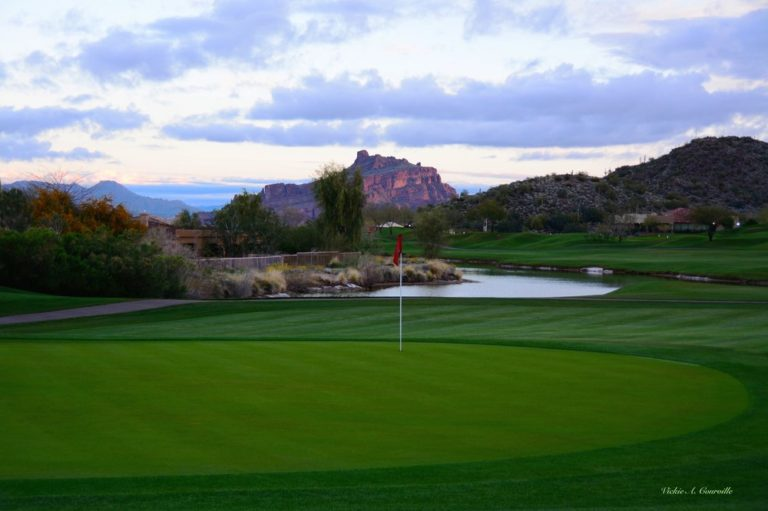 "As one of the best golf courses in all of Arizona, you will play on a world class layout that provides, ""A golf experience to remember for a lifetime."" In 1995, Robert Trent Jones Jr. made his Arizona debut joining an elite list of world class architects who have left their mark in the desert southwest with the opening of Las Sendas Golf Club. A demanding desert-style layout winding through the Usery Mountains in eastern Mesa, this upscale course is setting the standard for customer service in the Mesa, Scottsdale, and Greater Phoenix areas. Las Sendas' spectacular views of the Phoenix metropolis and skyline help soften the demand of managing your game through the rugged terrain, nearly 1800 feet above the desert floor."