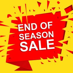 End of season sale at Valley Home Building Centre.