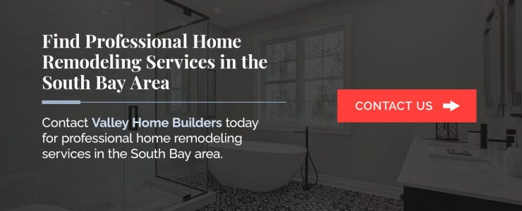 Contact Valley Home Builders for bathroom remodeling projects in the South Bay area of California.