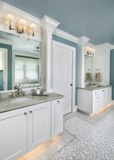 the his and hers vanities updated for the master bathroom remodel by Valley Home Builders, picture