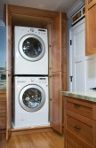 Sunnyvale Kitchen Laundry Cabinets Open (OK)