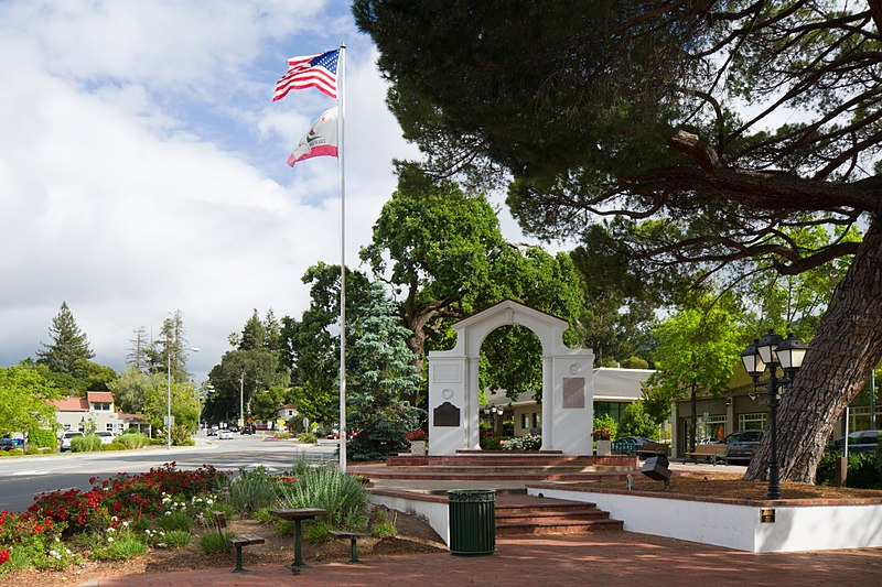 Memorial arch in Saratoga California