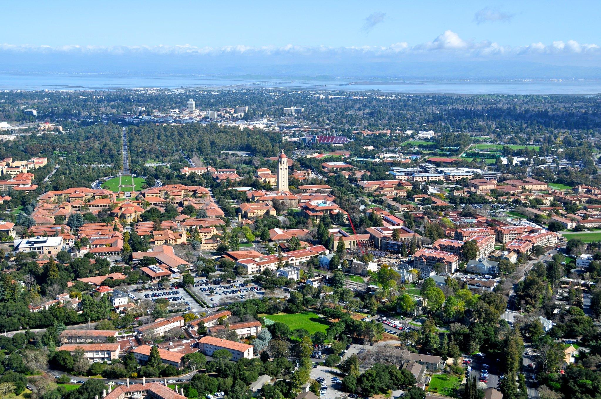 Aerial view of Los Altos Hills.